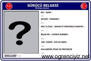 ehliyet belgesi